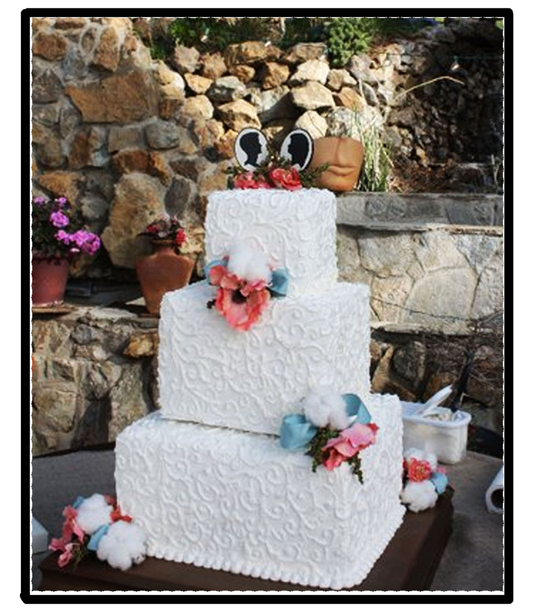 a personalized and distinctive wedding cake topper or gift